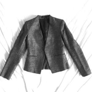 Theory Blazer - Gray (Black & White Woven Texture)
